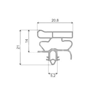 Уплотнитель двери (578x1000, профиль ОМ) холодильника Bosch